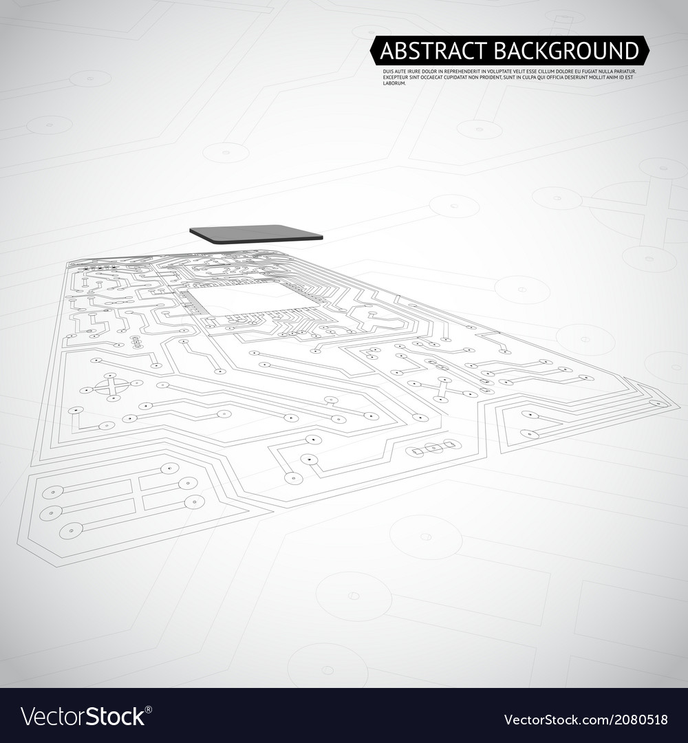 Abstract technology computer interface circuit vector | Price: 1 Credit (USD $1)