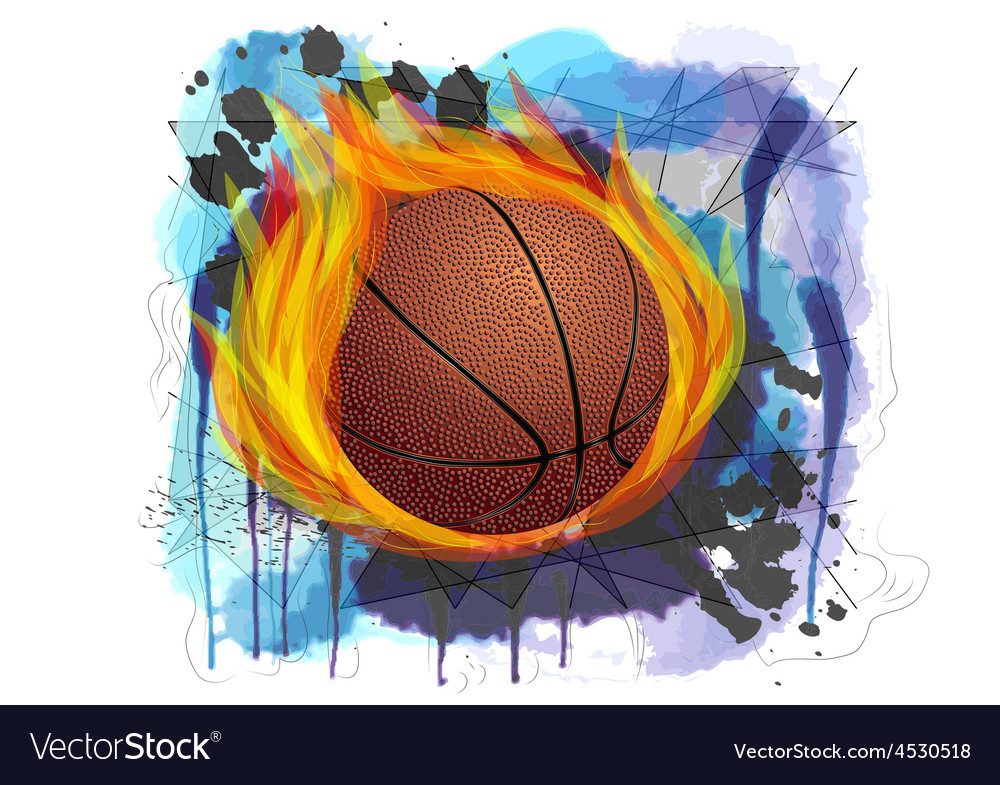 Basketball on grunge background vector | Price: 1 Credit (USD $1)