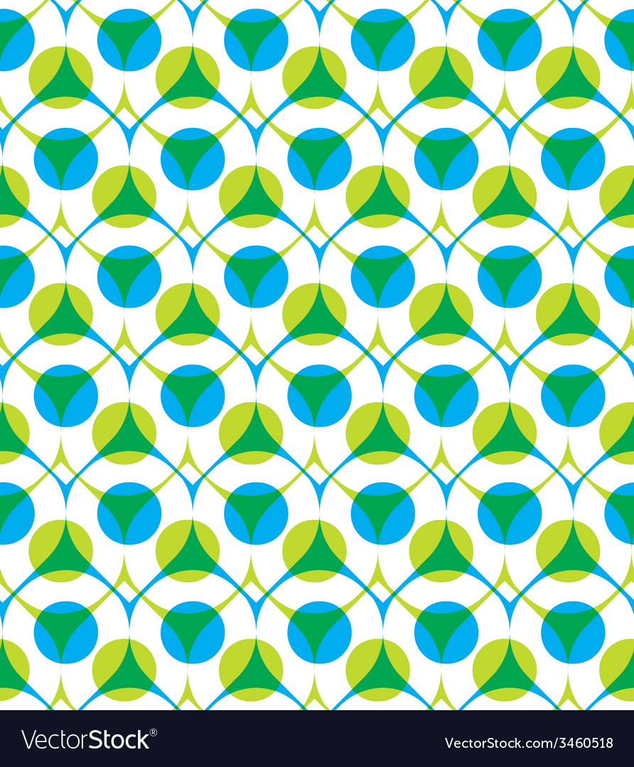 Colorful seamless pattern with green and blue dots vector | Price: 1 Credit (USD $1)