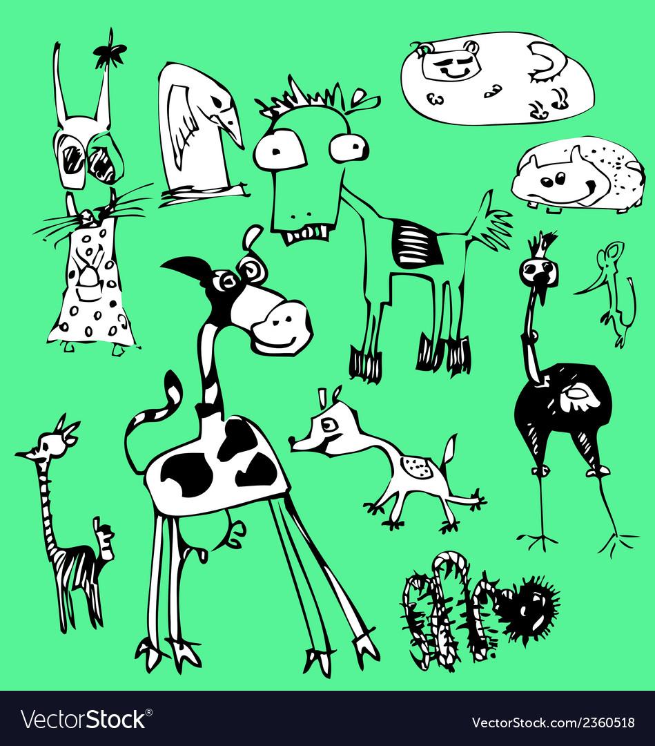 Fancy animals vector | Price: 1 Credit (USD $1)