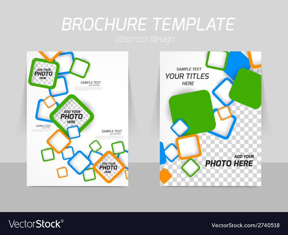 Flyer template design vector | Price: 1 Credit (USD $1)