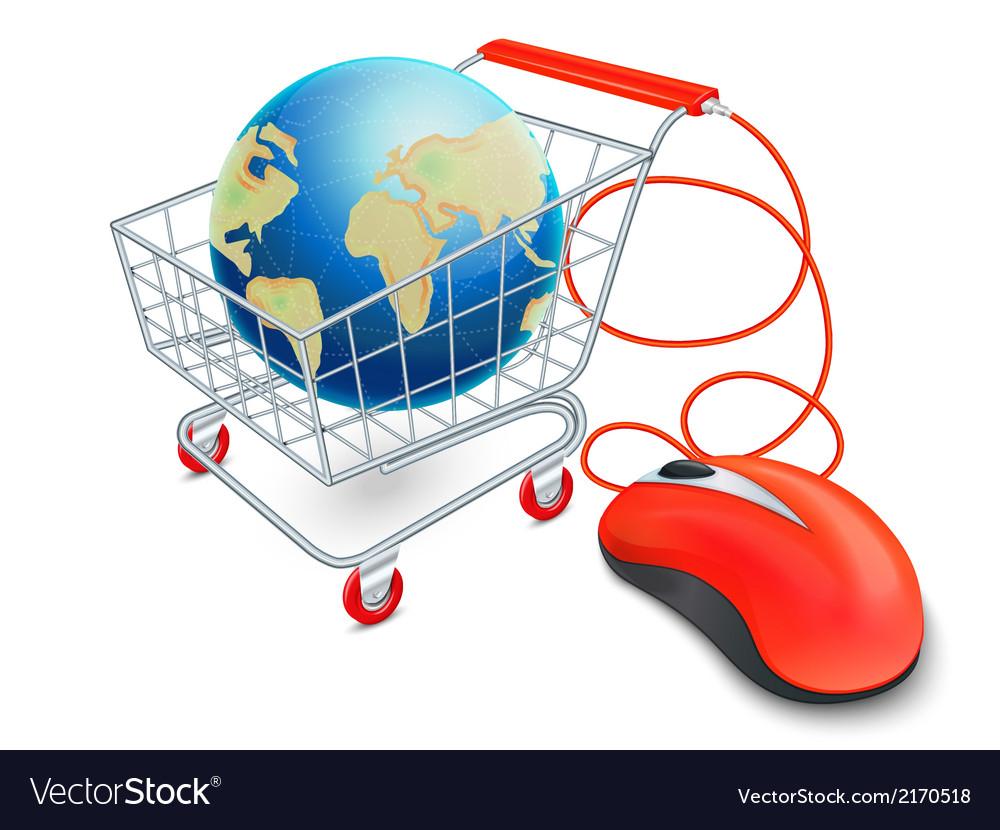 Internet shopping cart concept vector   Price: 1 Credit (USD $1)