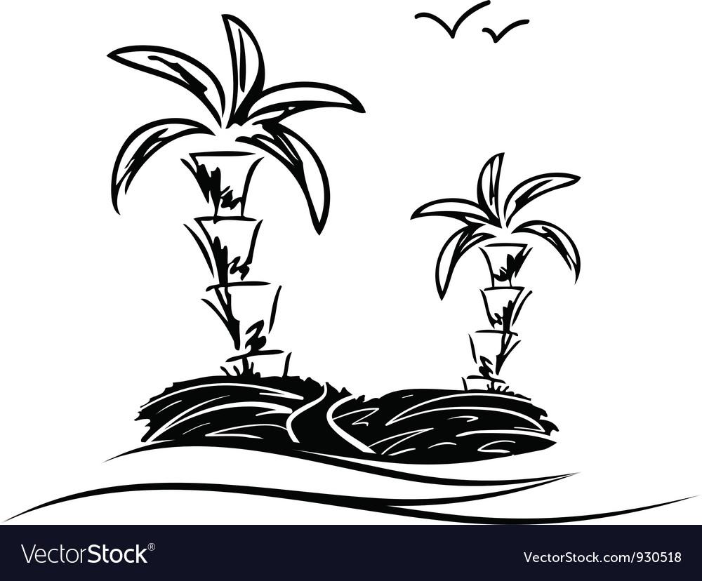 Island sketch vector | Price: 1 Credit (USD $1)