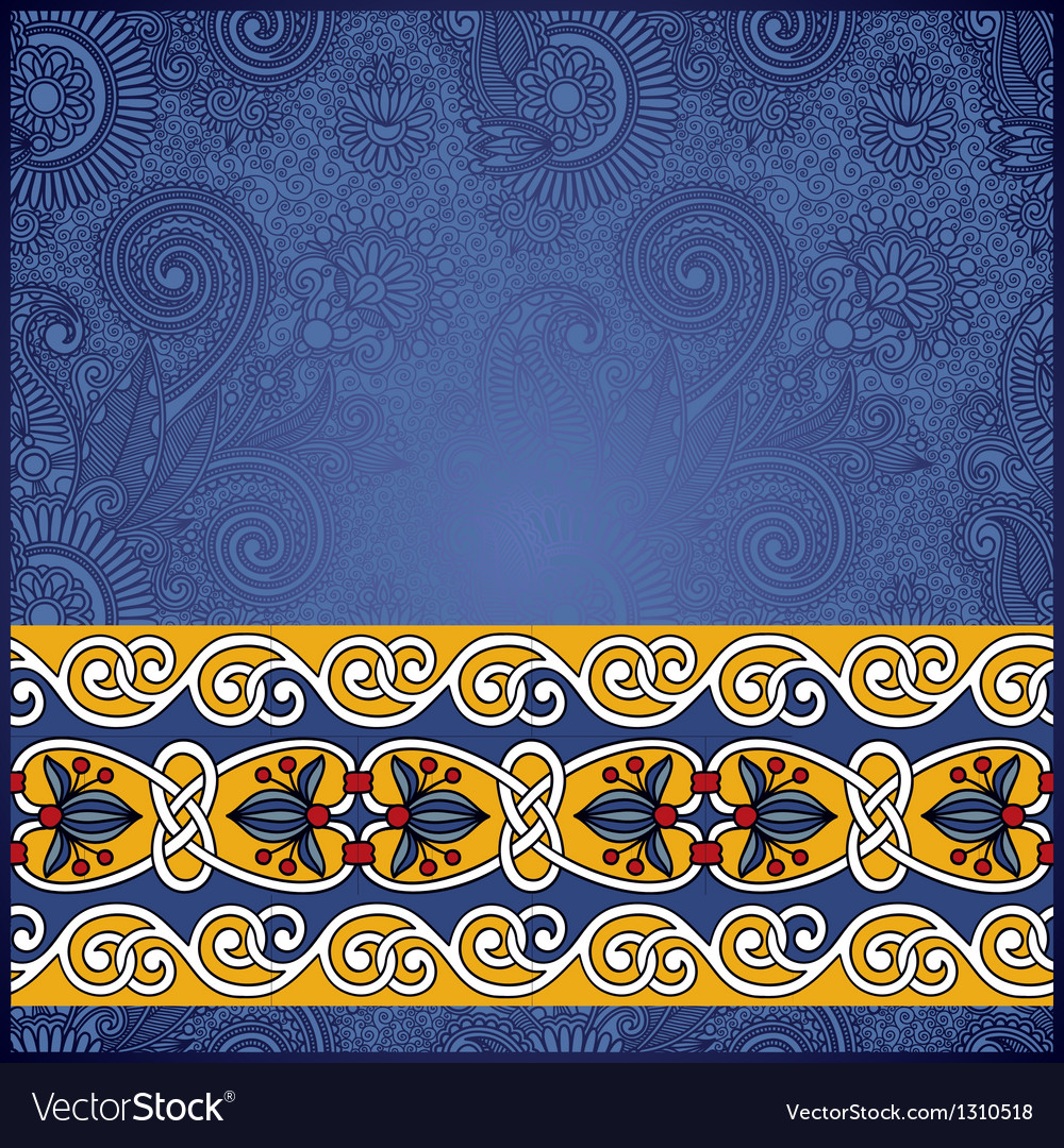Ornate floral pattern with ornament vector | Price: 1 Credit (USD $1)