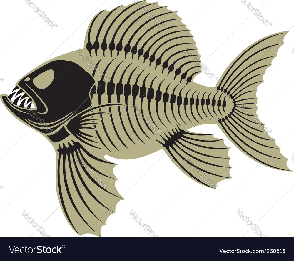 Prehistoric fish vector | Price: 1 Credit (USD $1)