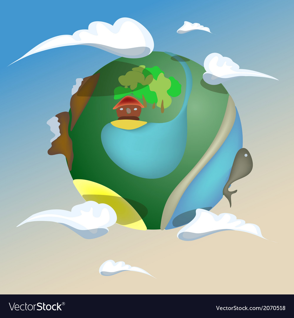 Puppet planet earth vector | Price: 1 Credit (USD $1)