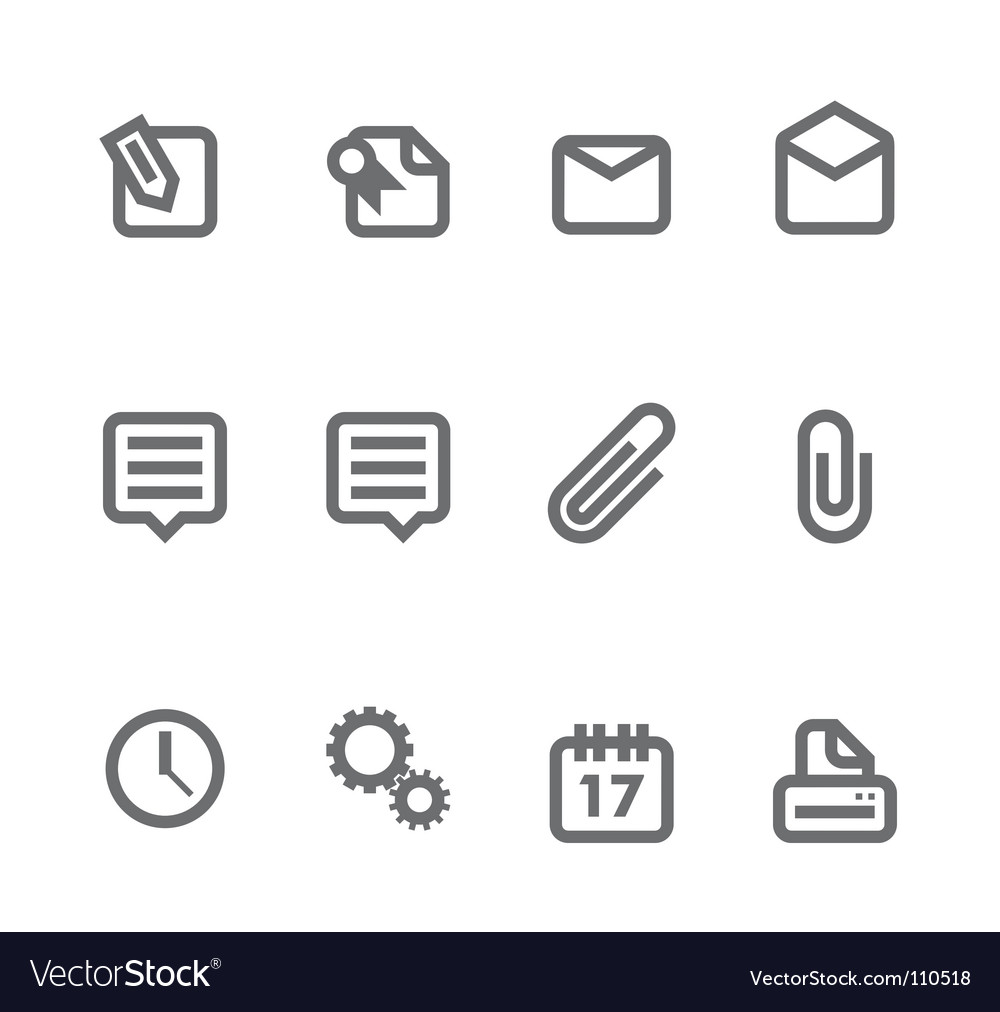 Simple icons vector | Price: 1 Credit (USD $1)