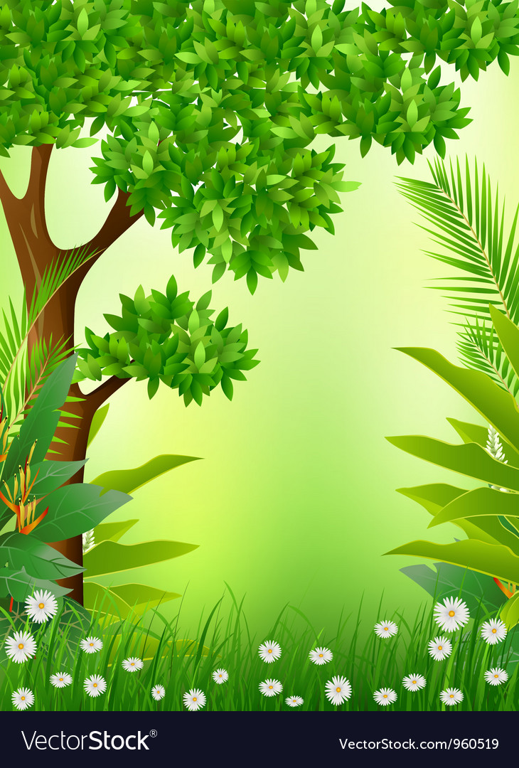 Beautiful tropical forest background vector | Price: 1 Credit (USD $1)