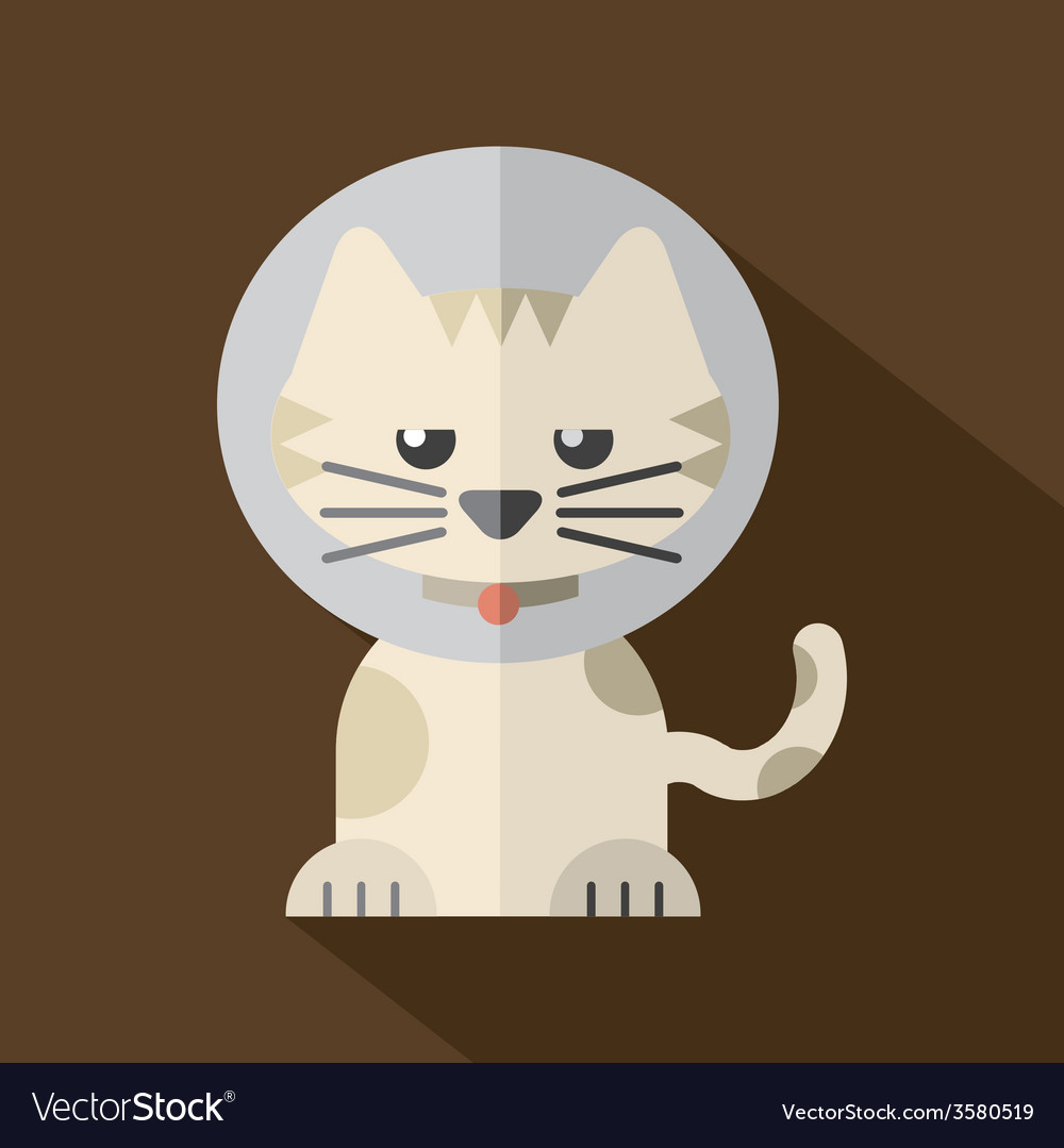 Featuring a cat wearing a cat collar vector | Price: 1 Credit (USD $1)