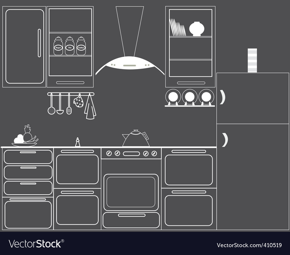 Gas hob kitchen vector | Price: 1 Credit (USD $1)