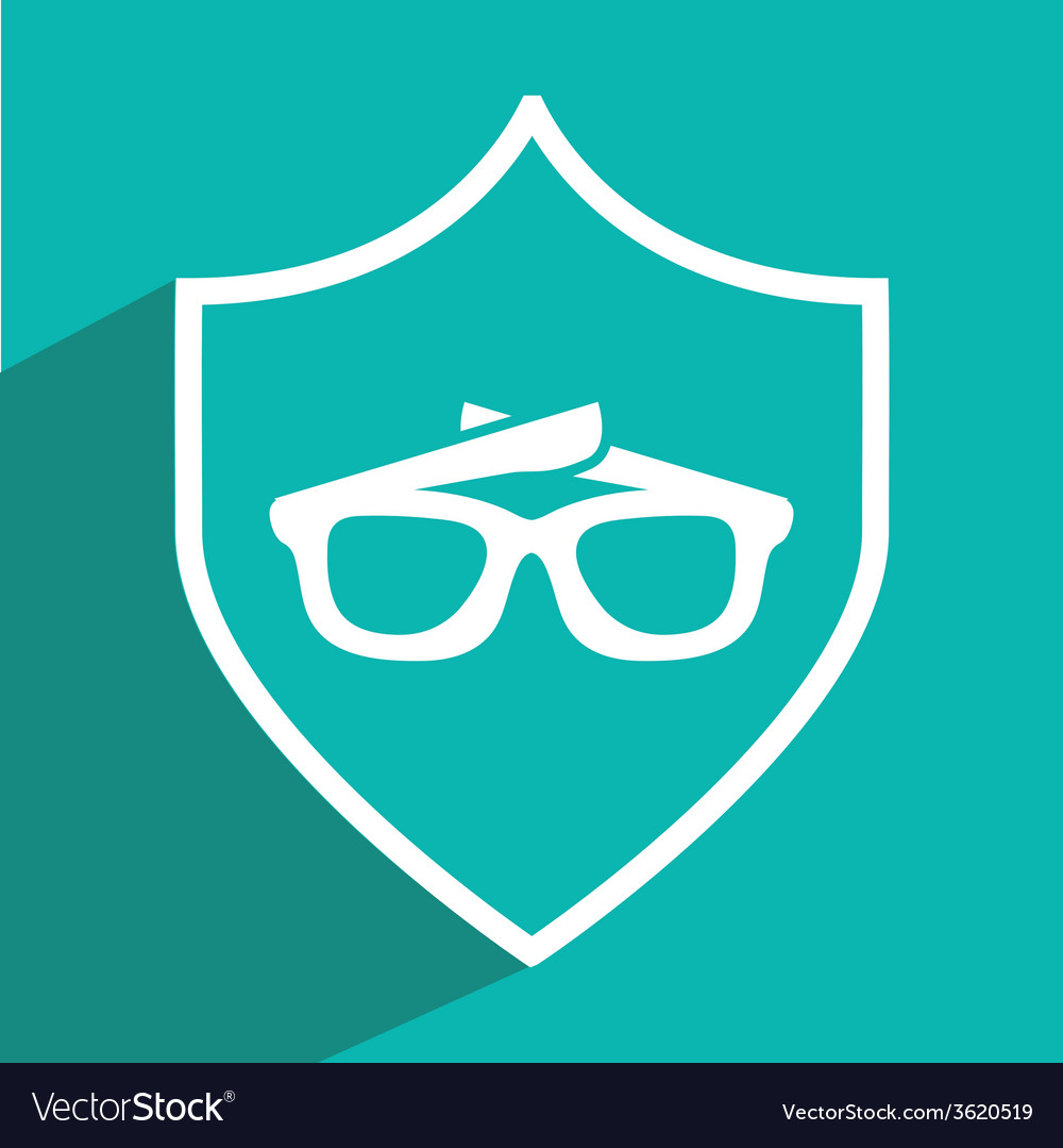 Glasses icon design vector | Price: 1 Credit (USD $1)