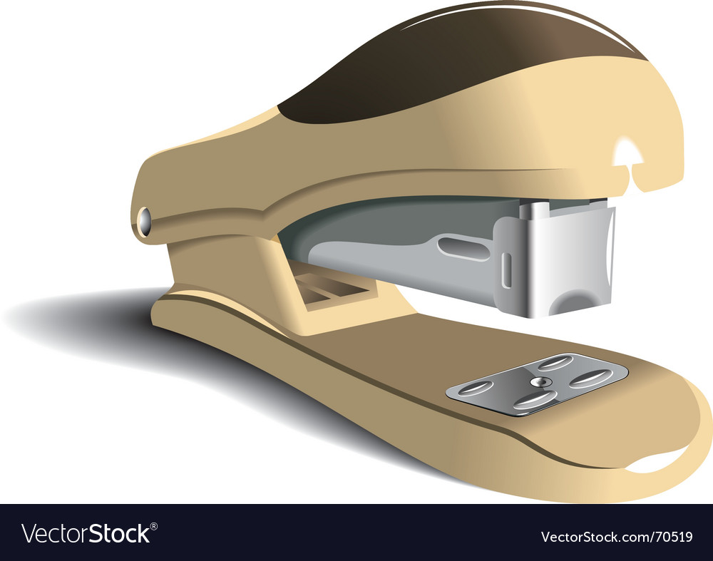 Office stapler vector | Price: 1 Credit (USD $1)
