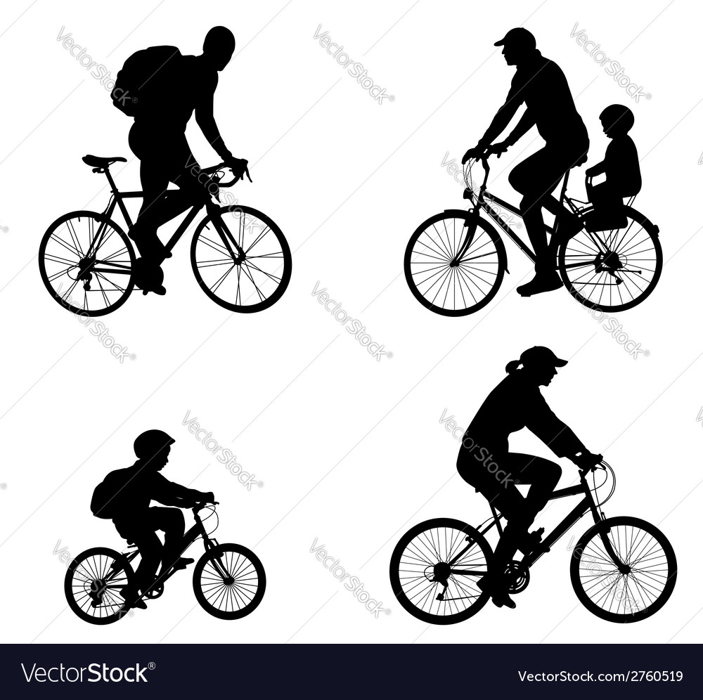 Recreational bicyclists vector | Price: 1 Credit (USD $1)