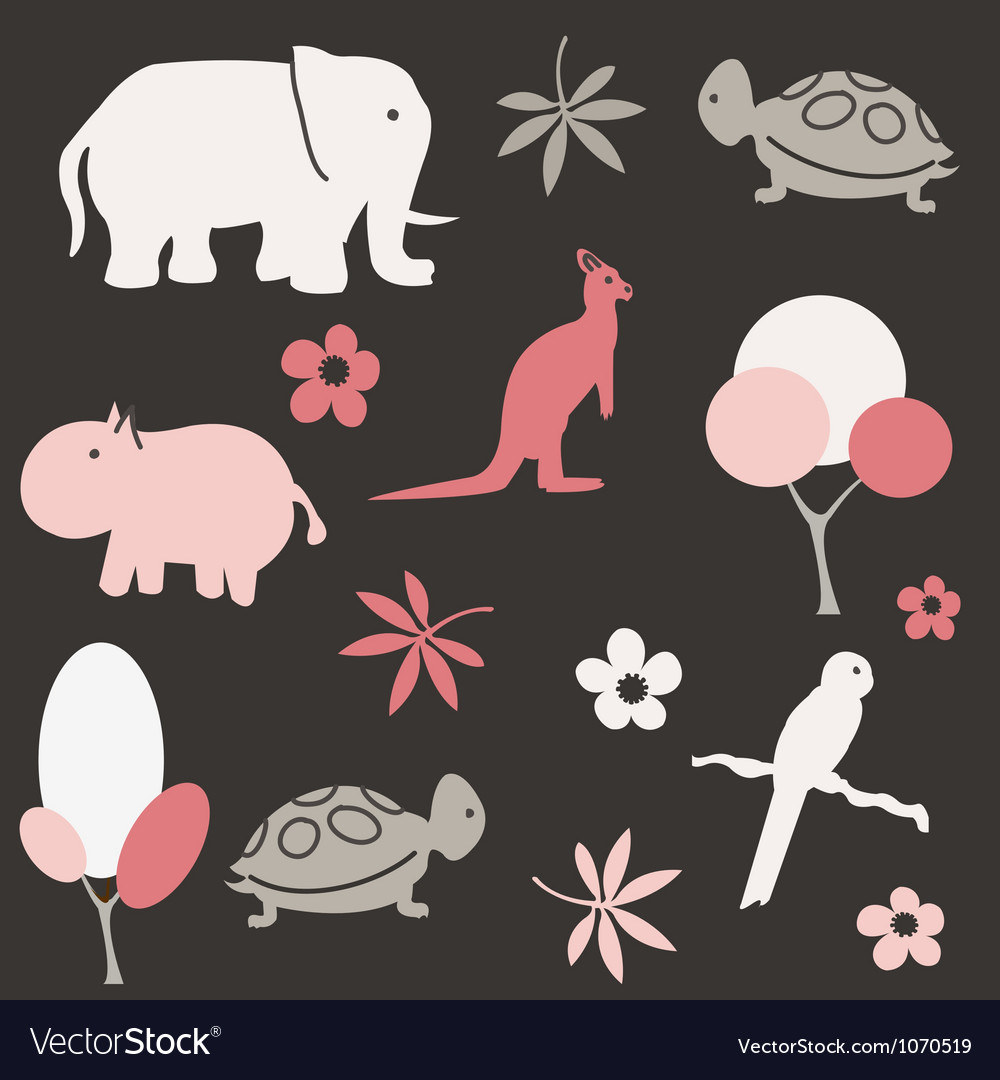 Seamless animal pattern for kids vector   Price: 1 Credit (USD $1)