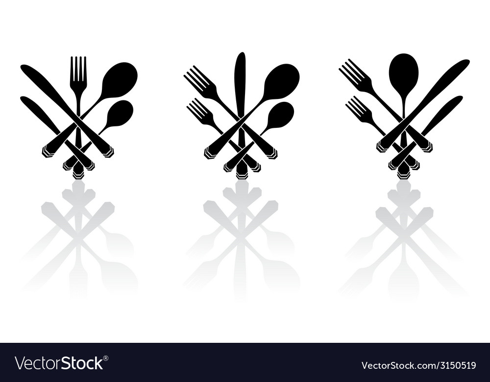Three cutlery vector | Price: 1 Credit (USD $1)