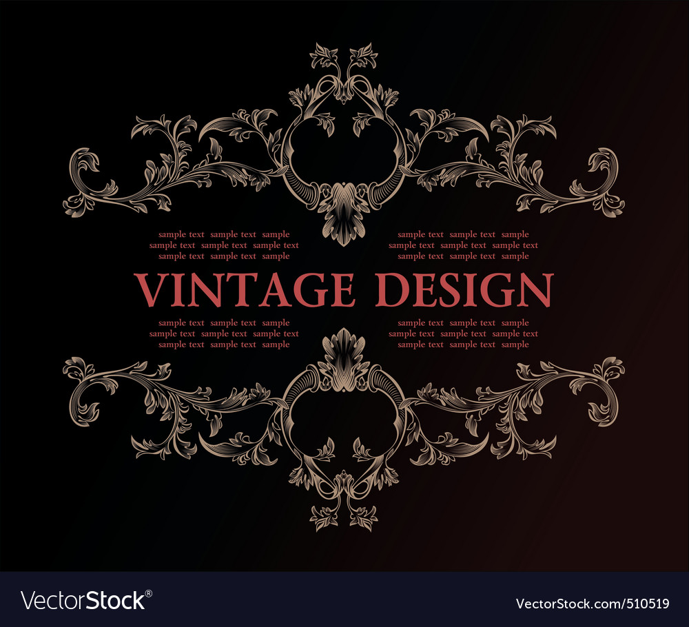 vintage royal retro frame ornament decor vector | Price: 1 Credit (USD $1)