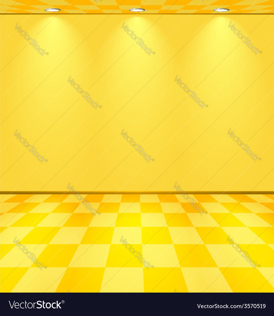 Yellow lightened room vector | Price: 1 Credit (USD $1)