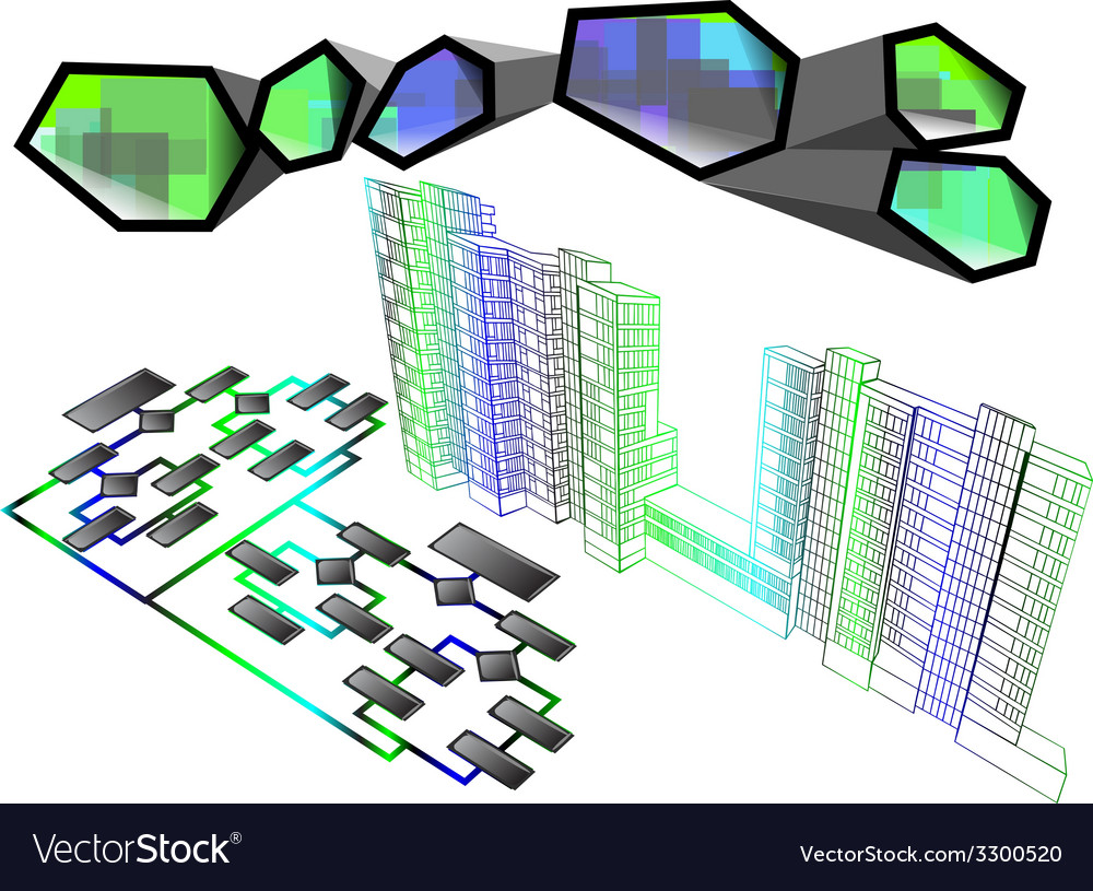 Architecture infographic vector | Price: 1 Credit (USD $1)