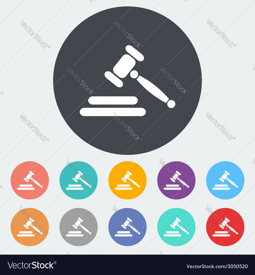 Auction flat icon vector | Price: 1 Credit (USD $1)