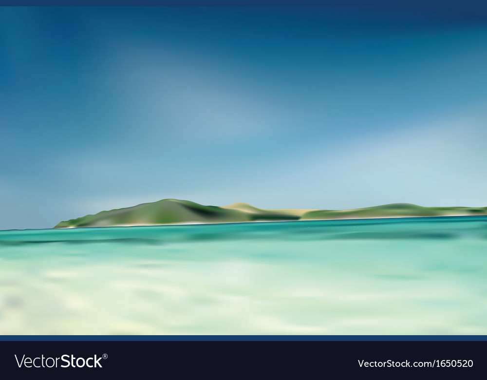Beach and island vector | Price: 1 Credit (USD $1)