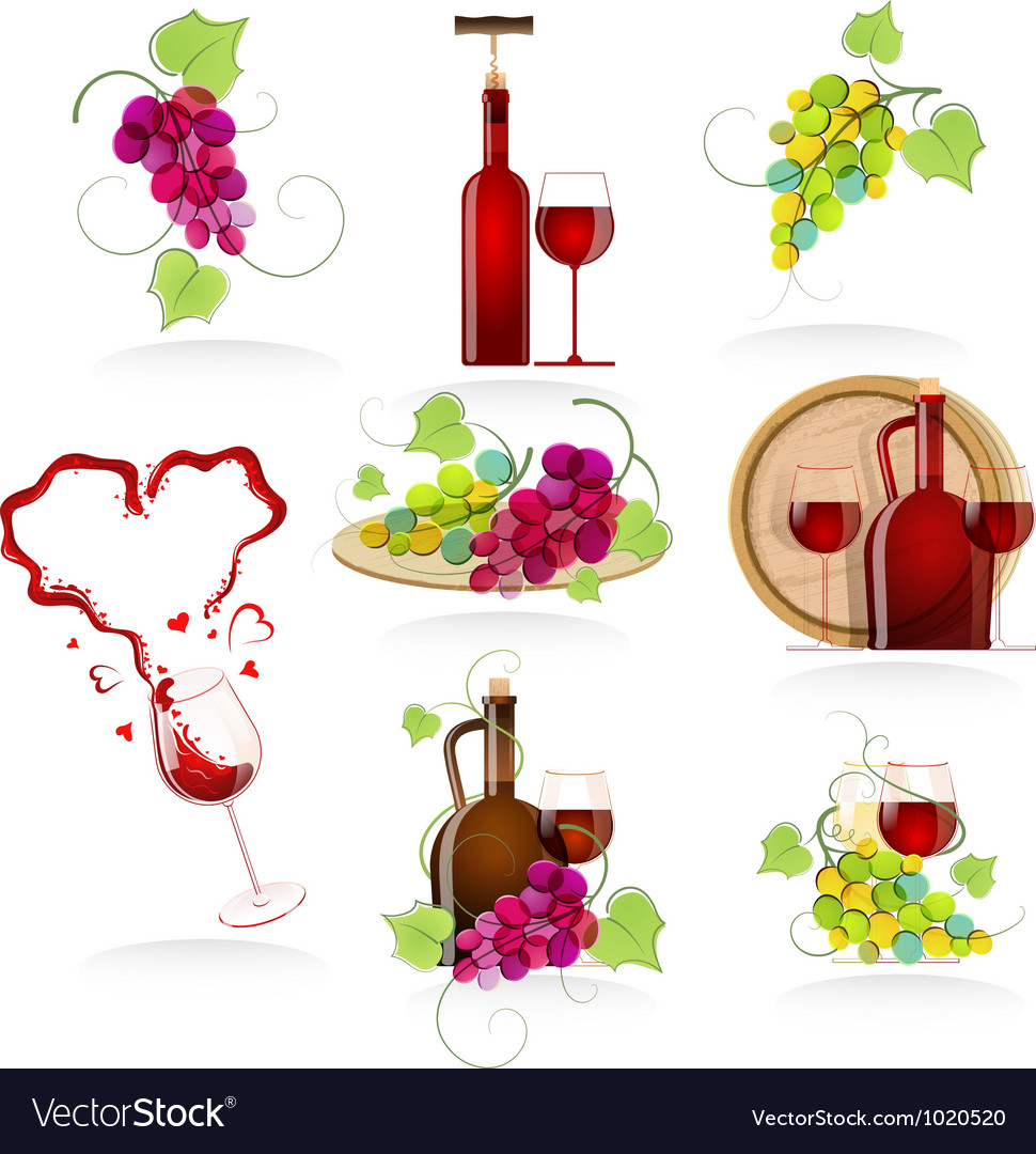 Design elements of the icon wines vector | Price: 5 Credit (USD $5)