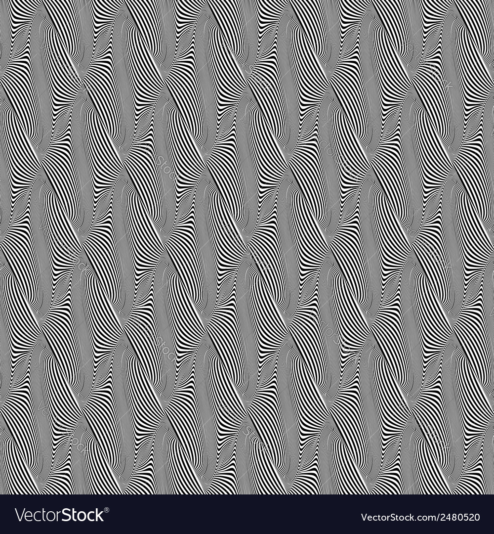 Design seamless monochrome warped pattern vector | Price: 1 Credit (USD $1)