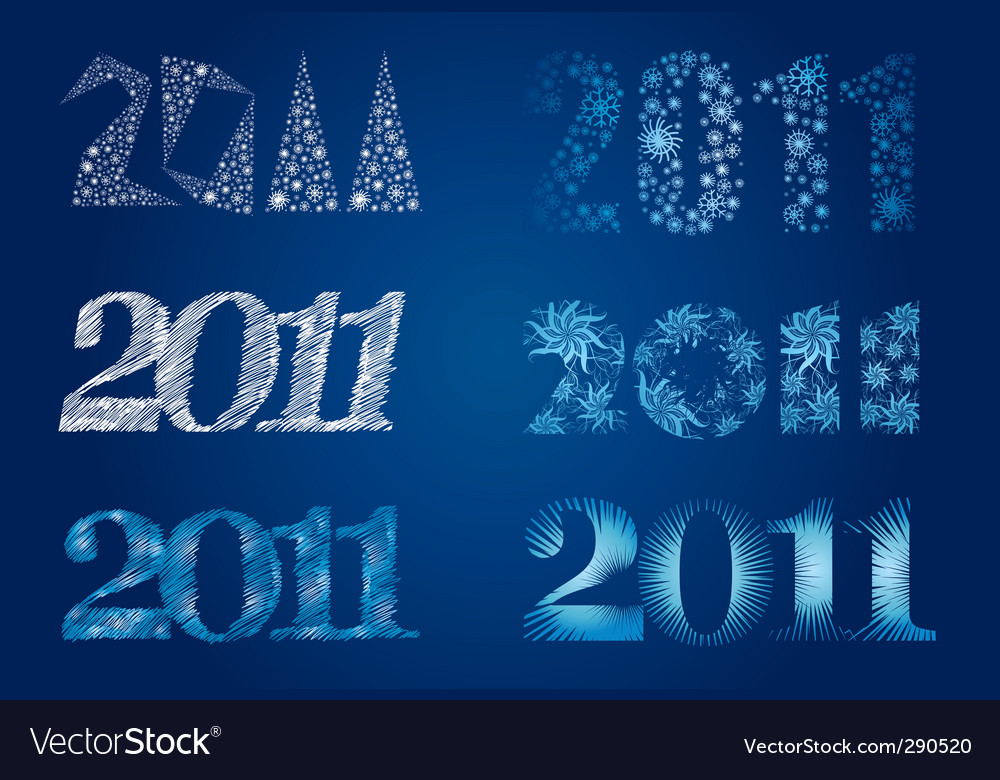 Frozen signs 2011 vector | Price: 1 Credit (USD $1)