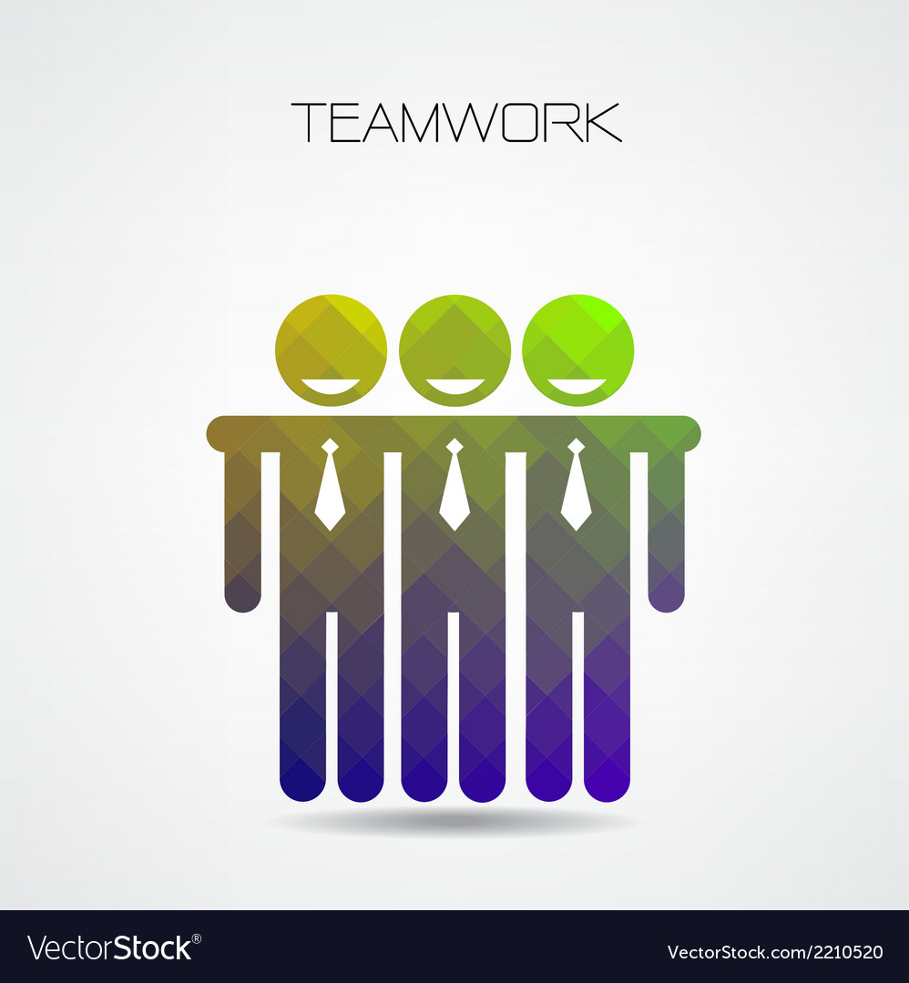 Geometric teamwork concept partnership vector | Price: 1 Credit (USD $1)