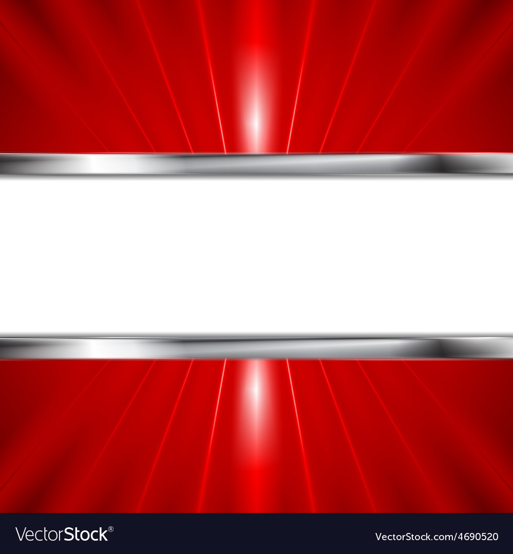 Glow red beams and metallic banner vector | Price: 1 Credit (USD $1)