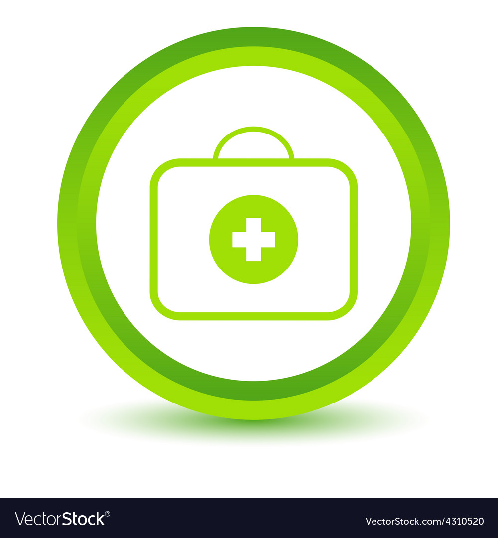 Green doctor bag icon vector   Price: 1 Credit (USD $1)