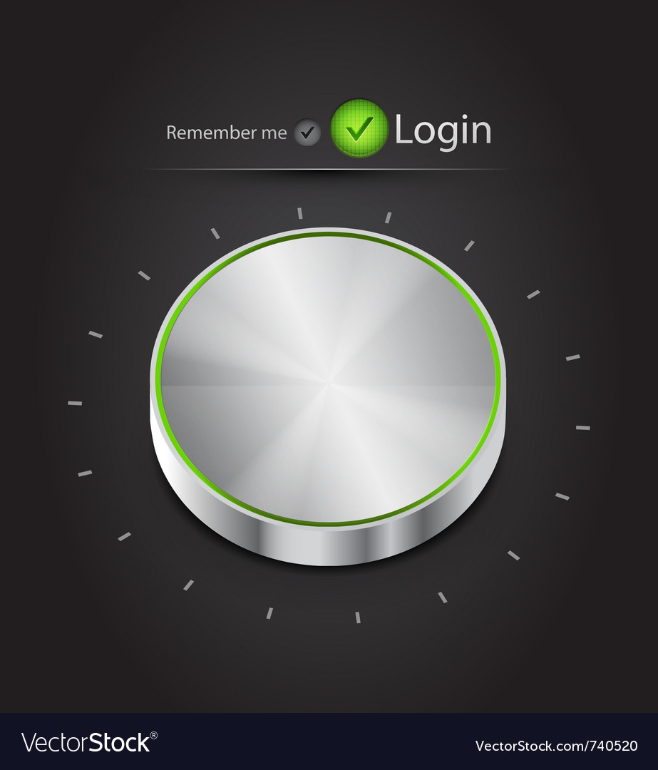 Login page with tune button vector | Price: 1 Credit (USD $1)