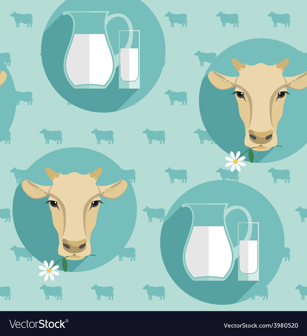 Modern flat design seamless of milk vector | Price: 1 Credit (USD $1)