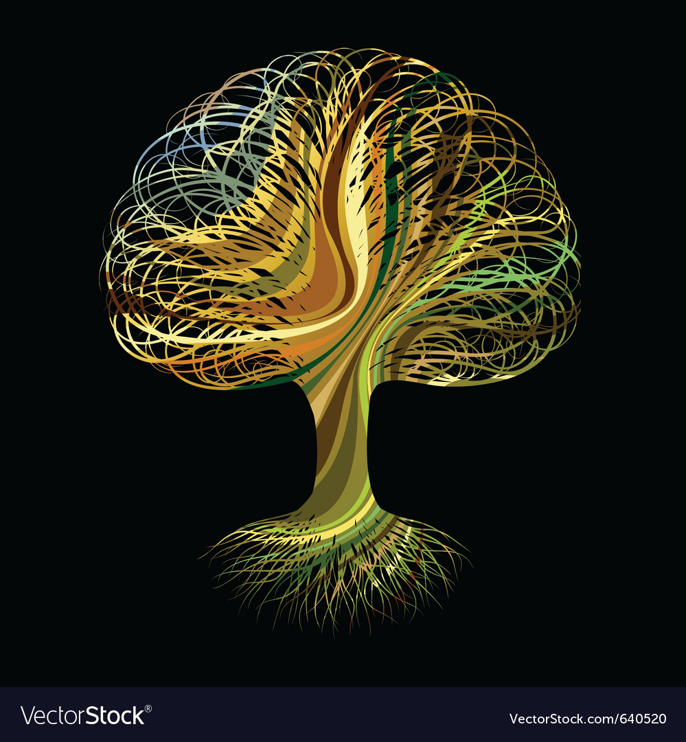 Multicolour abstract tree vector | Price: 1 Credit (USD $1)