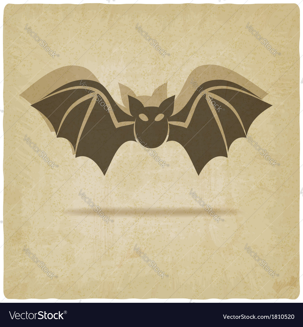 Old background with bat vector | Price: 1 Credit (USD $1)