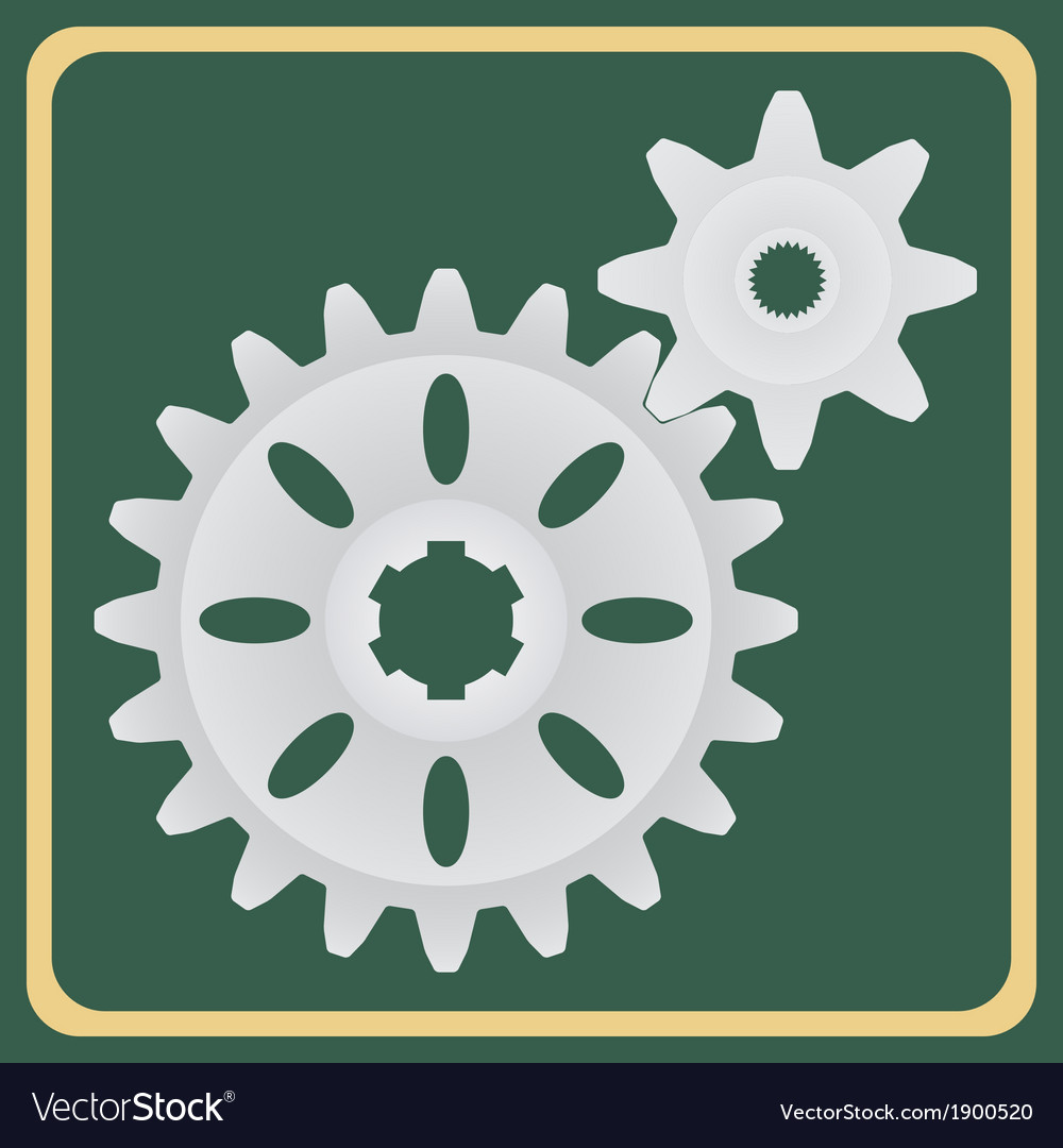 The pair of gears vector | Price: 1 Credit (USD $1)