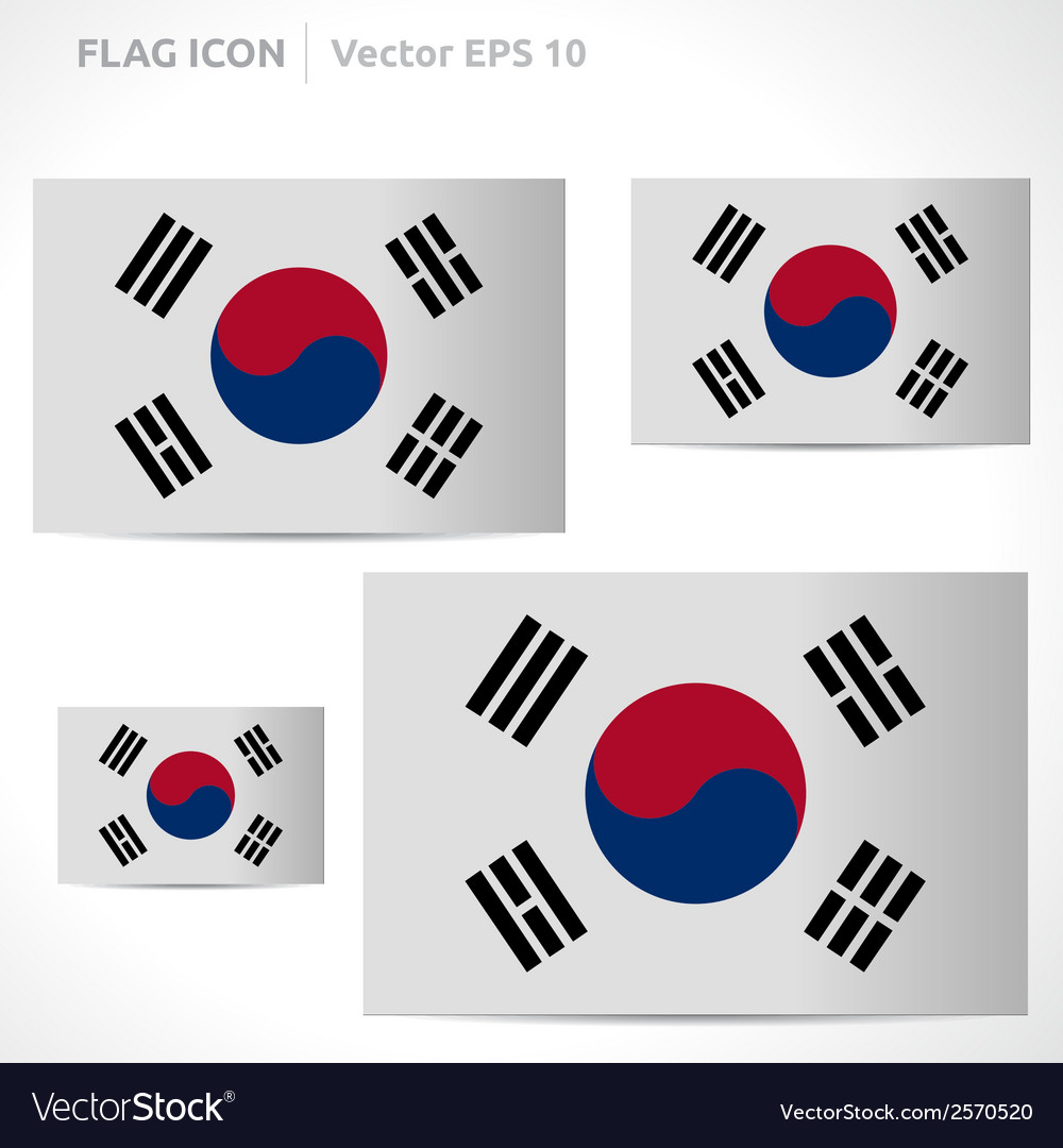 South korea flag template vector | Price: 1 Credit (USD $1)