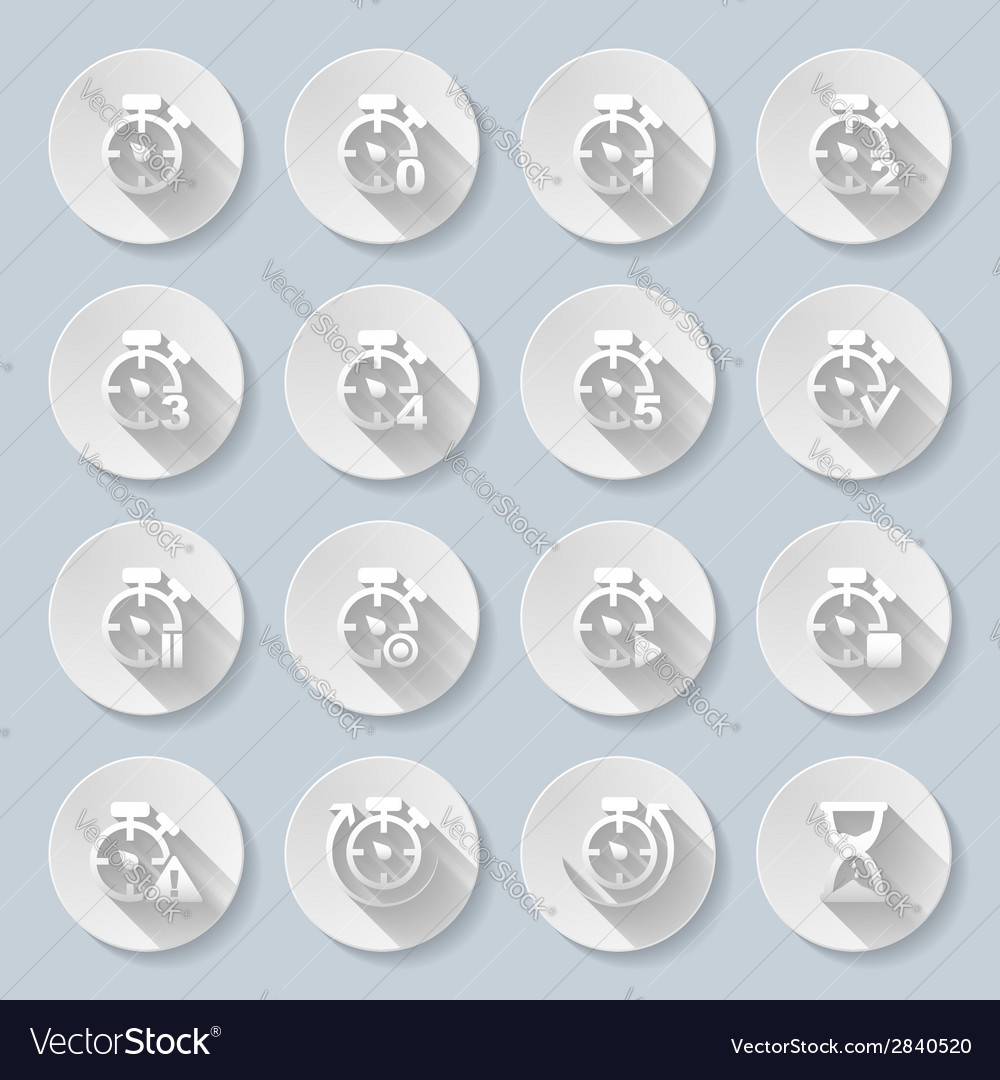 Time intervals set of flat icons vector | Price: 1 Credit (USD $1)
