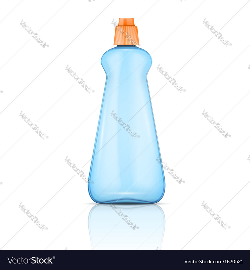 Blue plastic bottle with orange cap vector | Price: 1 Credit (USD $1)