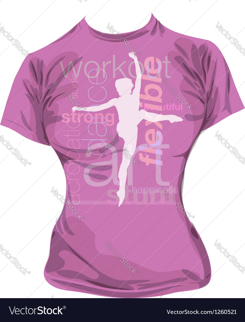 Dance t-shirt vector | Price: 1 Credit (USD $1)