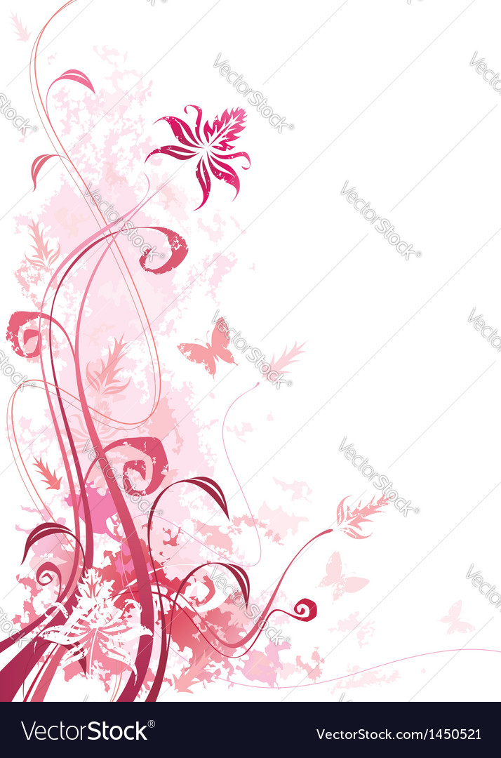 Floral pink vector | Price: 1 Credit (USD $1)