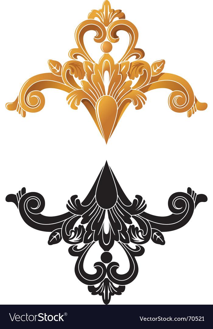 Golden decoration vector | Price: 1 Credit (USD $1)