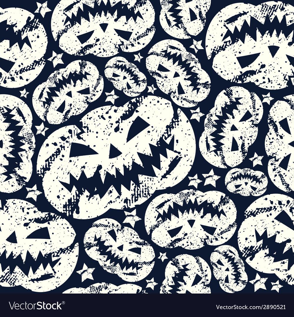 Halloween pumpkin seamless pattern vector | Price: 1 Credit (USD $1)