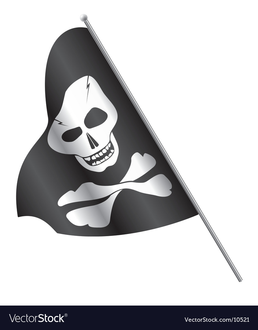 Pirates flag skull and cross-bones vector | Price: 1 Credit (USD $1)
