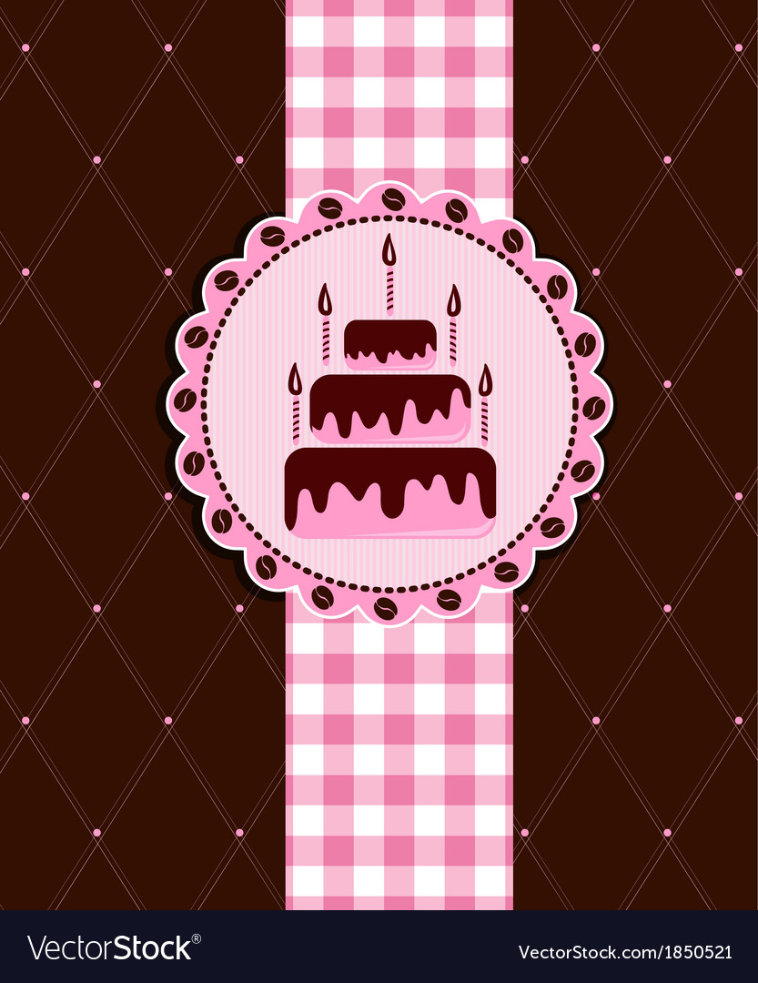 Postcard with cake vector | Price: 1 Credit (USD $1)