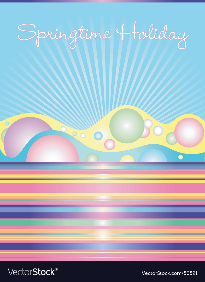 Springtime holiday vector | Price: 1 Credit (USD $1)