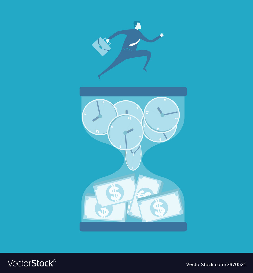 Time is money vector | Price: 1 Credit (USD $1)