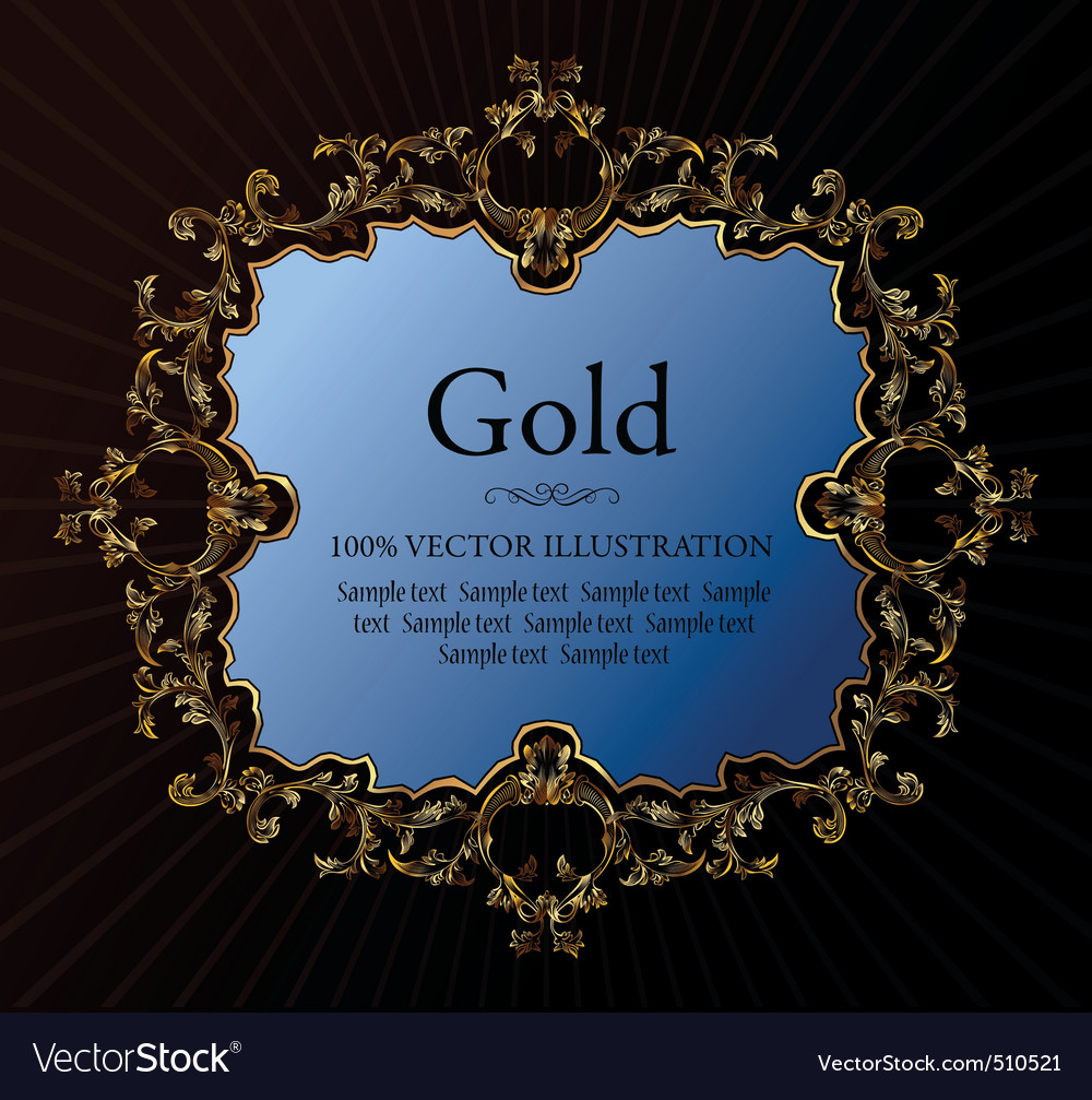 vintage royal retro frame ornament gold vector | Price: 1 Credit (USD $1)