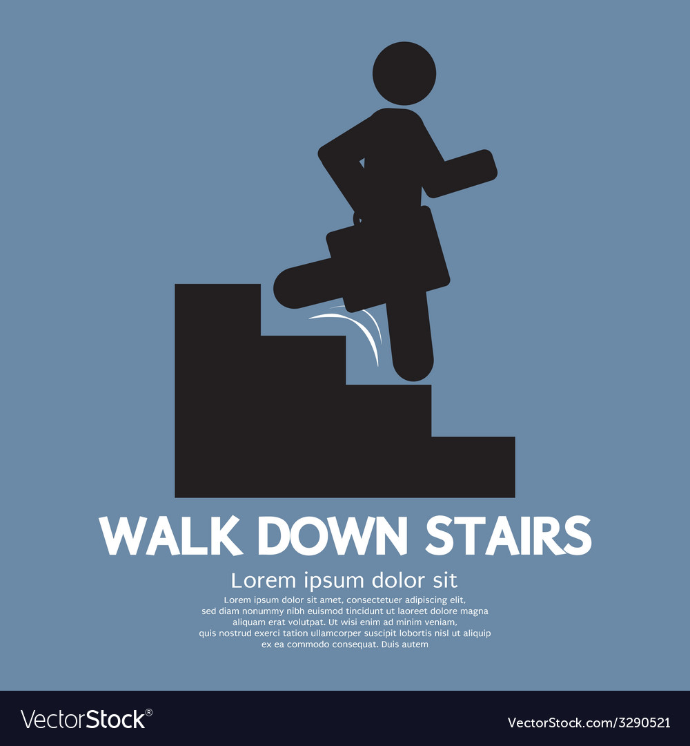 Walk down stairs symbol vector | Price: 1 Credit (USD $1)