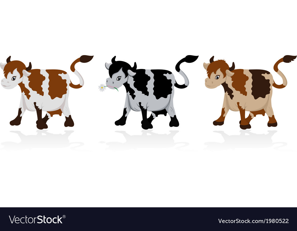 Abstract cow collection vector | Price: 1 Credit (USD $1)