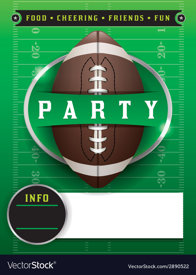 American football party template vector | Price: 1 Credit (USD $1)